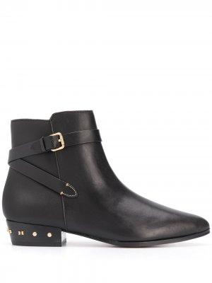 Ботинки с заклепками и заостренным носком Coach. Цвет: черный