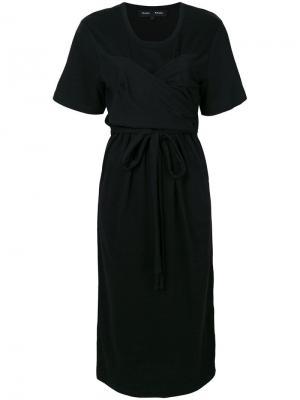 Платье миди с короткими рукавами Proenza Schouler. Цвет: черный
