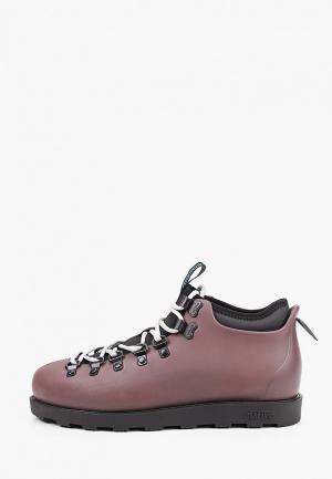 Ботинки Native. Цвет: бордовый