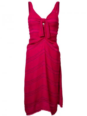 Платье в тонкую полоску Proenza Schouler. Цвет: розовый