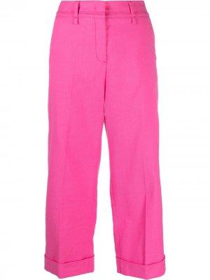 Укороченные брюки с завышенной талией Luisa Cerano. Цвет: розовый