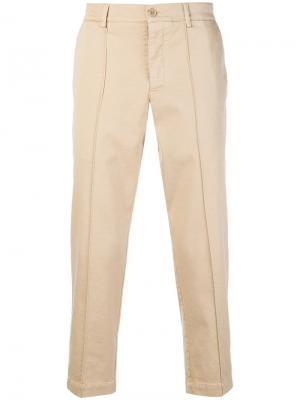 Прямые брюки YMC. Цвет: нейтральные цвета