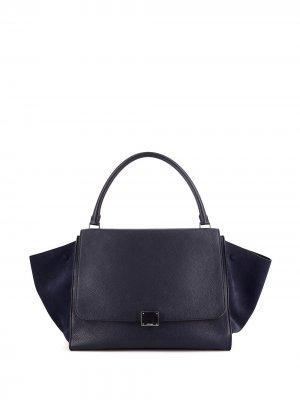 Большая сумка-тоут Trapeze Céline Pre-Owned. Цвет: голубой