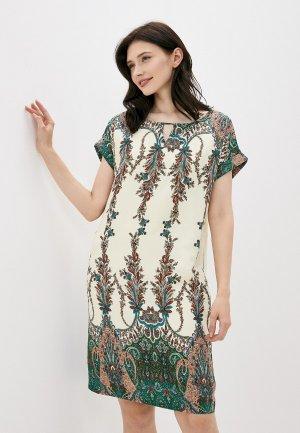 Платье Finn Flare. Цвет: бежевый