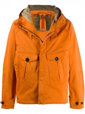 Куртка с капюшоном и карманами Ten C. Цвет: оранжевый