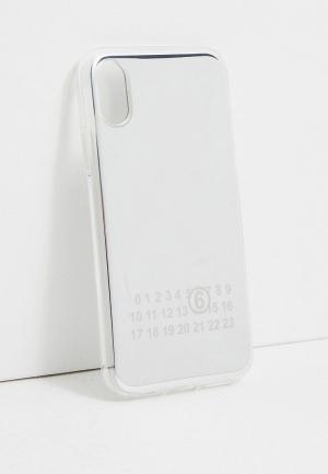 Чехол для iPhone MM6 Maison Margiela. Цвет: серебряный