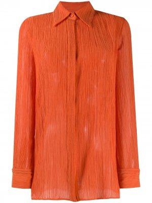 Прозрачная блузка с длинными рукавами Gabriela Hearst. Цвет: оранжевый