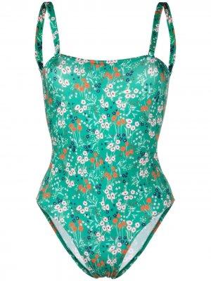 LAutre Chose купальник с цветочным принтом L'Autre. Цвет: зеленый