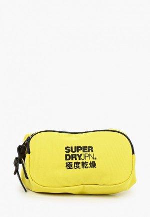 Сумка поясная Superdry. Цвет: желтый