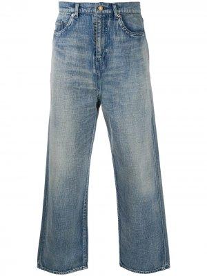 Широкие джинсы Saint Laurent. Цвет: синий
