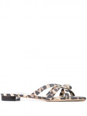 Сандалии Eveline с леопардовым принтом Loeffler Randall. Цвет: коричневый