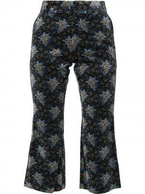 Бархатные укороченные брюки с принтом Comme Des Garçons Pre-Owned. Цвет: серый