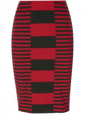 Короткая юбка в полоску Jean Paul Gaultier Vintage. Цвет: черный