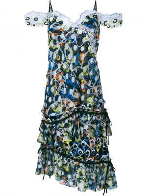 Платье без рукавов Cord Peter Pilotto. Цвет: черный