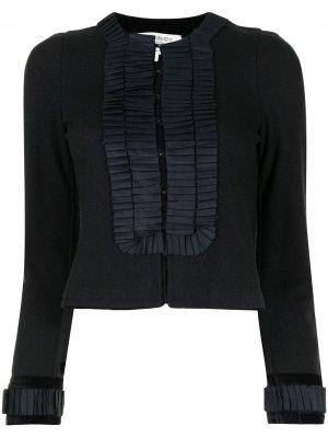 Жакет без воротника с плиссировкой Yves Saint Laurent Pre-Owned. Цвет: черный