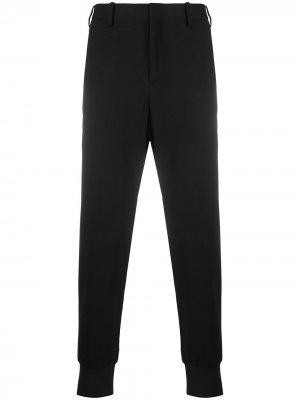 Зауженные брюки с эластичными манжетами Neil Barrett. Цвет: черный