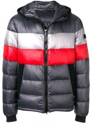 Куртка-пуховик на молнии Peuterey. Цвет: серый