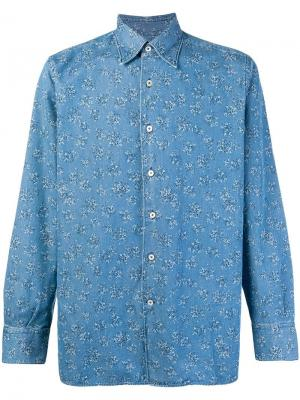 Splatter print denim shirt Canali. Цвет: синий
