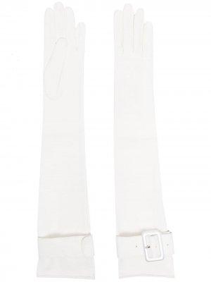 Перчатки с пряжкой Manokhi. Цвет: белый