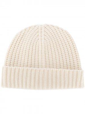 Maryya шапка бини в рубчик Ma'ry'ya. Цвет: белый