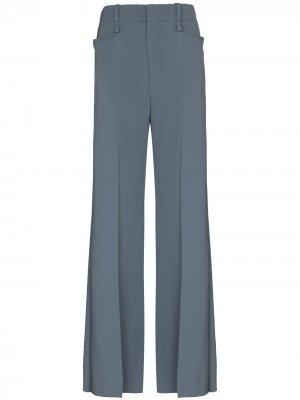 Широкие брюки Chloé. Цвет: синий