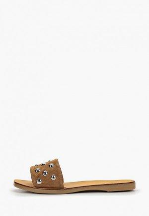 Сабо Pieces. Цвет: коричневый
