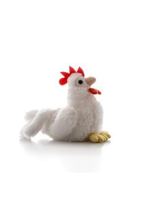 Игрушка мягкая Петушок белый 15 см AURORA. Цвет: белый