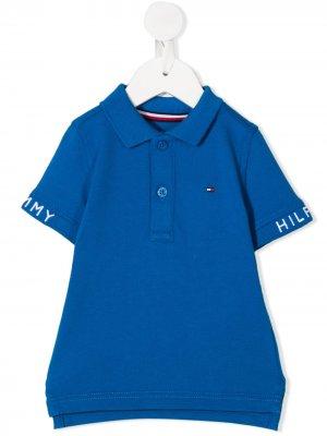 Рубашка поло с вышитым логотипом Tommy Hilfiger Junior. Цвет: синий