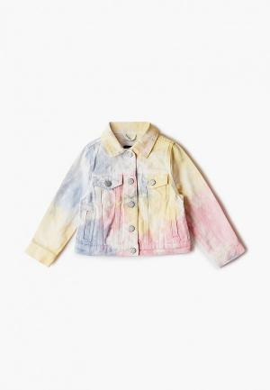 Куртка джинсовая Gap. Цвет: разноцветный
