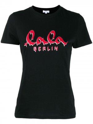 Футболка с логотипом Lala Berlin. Цвет: черный