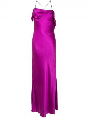 Коктейльное платье с драпировкой Michelle Mason. Цвет: фиолетовый