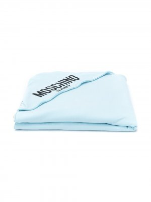 Полотенце с логотипом Moschino Kids. Цвет: синий