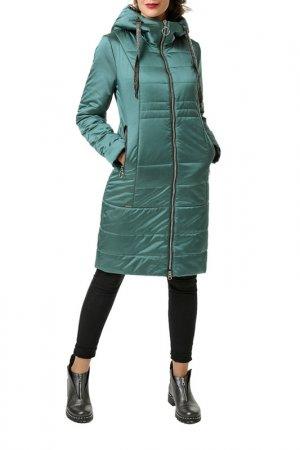Пальто утепленный DizzyWay. Цвет: зеленый