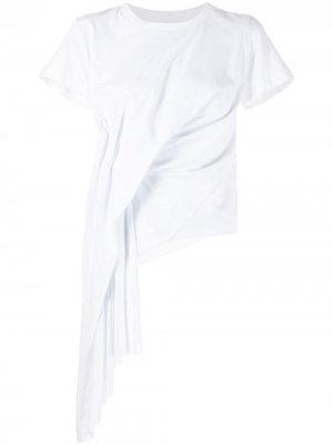 MarquesAlmeida футболка с драпировкой и рукавами кап Marques'Almeida. Цвет: белый