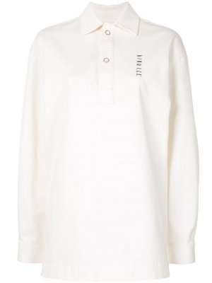 Рубашка поло свободного кроя Dion Lee. Цвет: белый