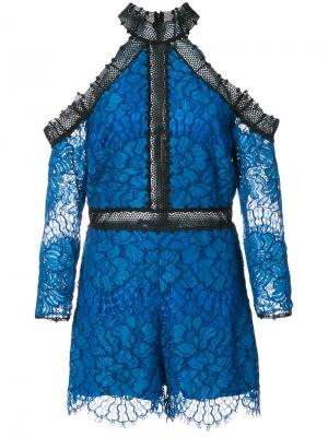Lace short jumpsuit Alexis. Цвет: синий