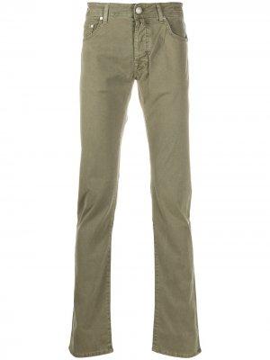 Прямые джинсы Jacob Cohen. Цвет: зеленый