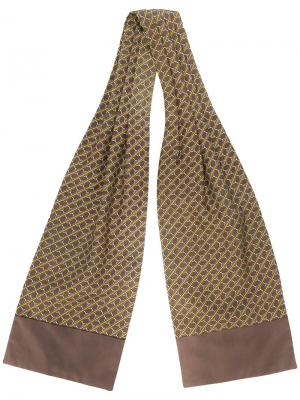 Шарф с узором Hermès Vintage. Цвет: коричневый