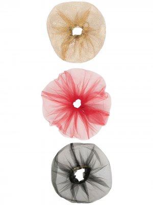 Набор из трех резинок для волос Atu Body Couture. Цвет: золотистый