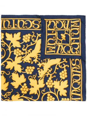 Шарф с принтом Hermès Vintage. Цвет: синий
