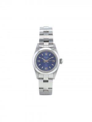 Наручные часы Oyster Perpetual pre-owned 25 мм 1991-го года Rolex. Цвет: синий