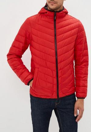 Куртка утепленная Tom Tailor Denim. Цвет: красный