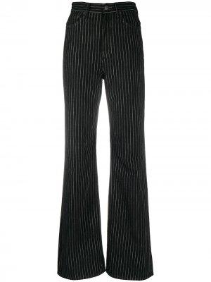Расклешенные джинсы в тонкую полоску 1990-х годов Acne Studios. Цвет: черный