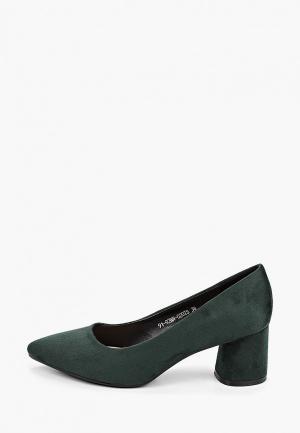 Туфли Instreet. Цвет: зеленый