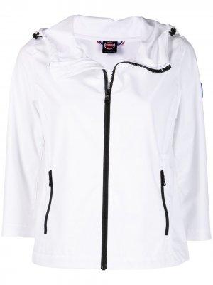 Укороченная куртка с нашивкой-логотипом Colmar. Цвет: белый