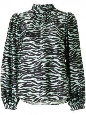 Блузка с зебровым принтом Jonathan Simkhai. Цвет: разноцветный
