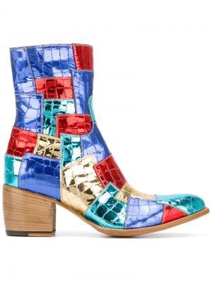 Ботинки с лоскутным дизайном Rocco P.. Цвет: синий