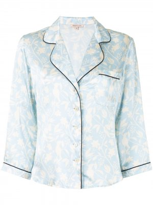 Пижамная рубашка Kinsley Morgan Lane. Цвет: синий