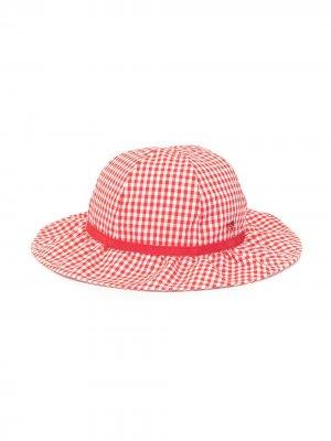 Клетчатая шляпа Familiar. Цвет: красный