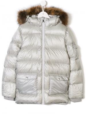 TEEN hooded padded jacket Pyrenex Kids. Цвет: серый